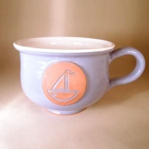 """Hrnek střední """"čajový"""" 0,5 - 0,6l (fialová) - loď"""