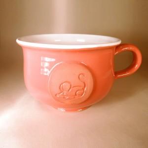 """Hrnek střední """"čajový"""" 0,5 - 0,6l (oranžová) - myš"""