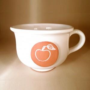 """Hrnek střední """"čajový"""" 0,5 - 0,6l (bílá) - jablko"""