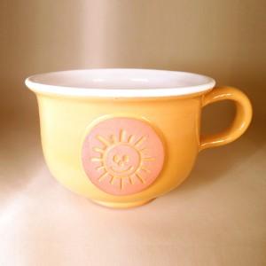 """Hrnek střední """"čajový"""" 0,5 - 0,6l (žlutá) - slunce"""