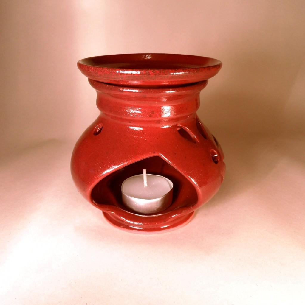 """Aroma lampa malá """"bříško"""" bez ucha (červená)2"""