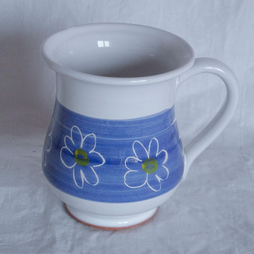 """Hrnek malý """"tulipán"""" 0,3l (modrá) - kytky"""