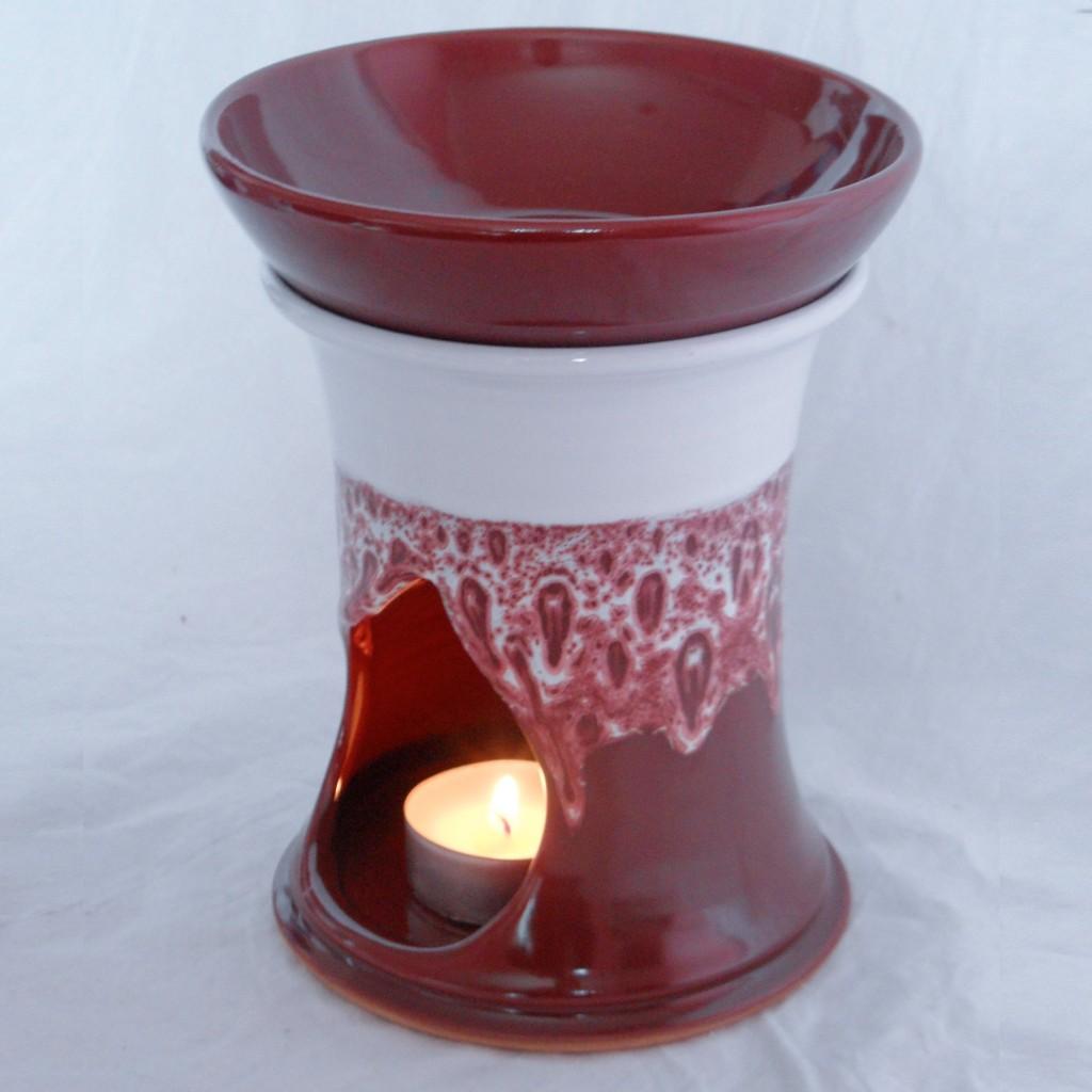"""Aroma lampa velká """"rovná"""" bez ucha (červená)2"""
